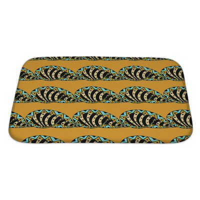 Slide Abstract Pattern Hand Drawn Bath Rug Size: Large
