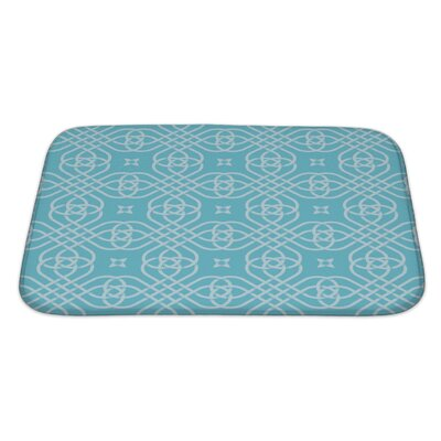 Simple Medieval Style Geometric Bath Rug Size: Large
