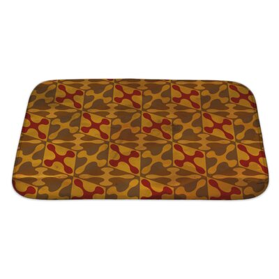 Gamma Vintage Pattern Geometric Bath Rug Size: Large, Color: Brown/Sand