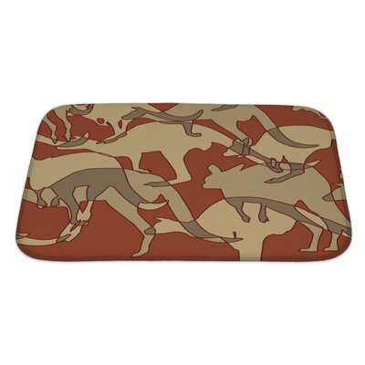 Animals Kangaroo Repeating Bath Rug Size: Large
