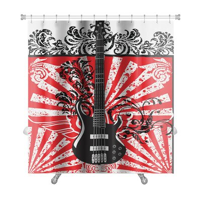 Instruments Abstract Electric Guitar Premium Shower Curtain GN-WF-SC1-7371-1844760