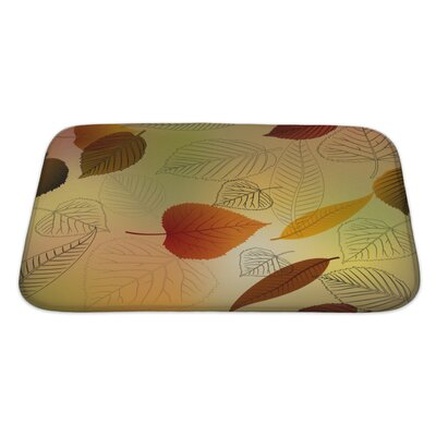 Leaves Autumn Leafs Fall Pattern Bath Rug Size: Large