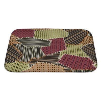 Beta with Patchwork Pattern Bath Rug Size: Large