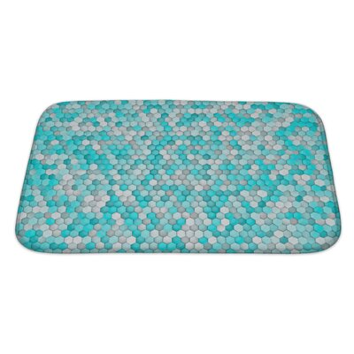 Creek Hexagon for Bathroom Pattern Bath Rug Size: Large