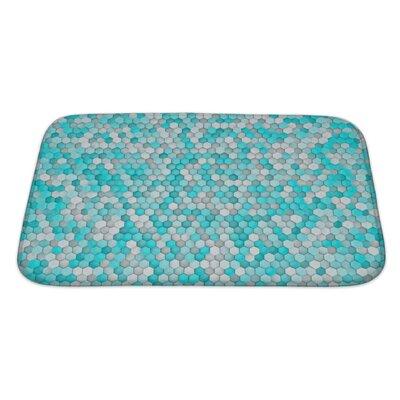 Creek Hexagon for Bathroom Pattern Bath Rug Size: Large
