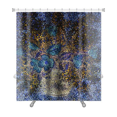 Gecko Gentle Big and Small Flowers in a Flowerpot Premium Shower Curtain