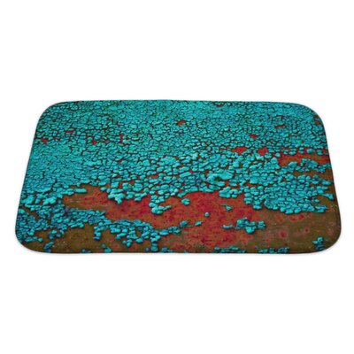Landscapes Cracked Paint on the Metal Surface Bath Rug Size: Large