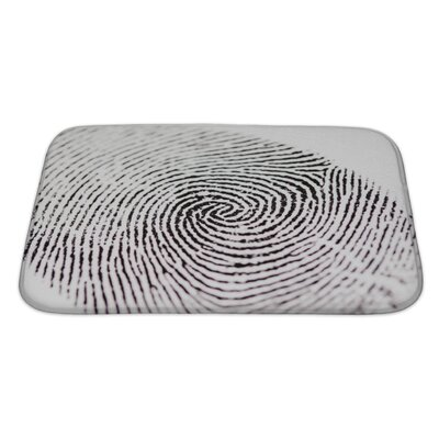 Human Touch Fingerprint Bath Rug Size: Large