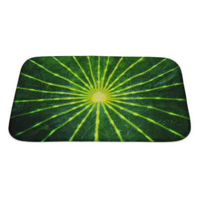 Gamma Close-Up Lotus Leaf Bath Rug Size: Large