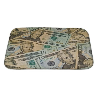 Patriotic Abstract of US $20 Dollar Bills Bath Rug Size: Large