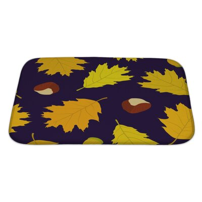 Leaves of Canadian Oaks Leaves, Acorns and Chestnuts Bath Rug Size: Large