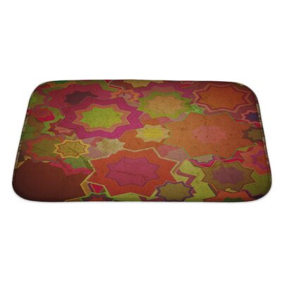 Beta Grunge Flower Bath Rug Size: Large