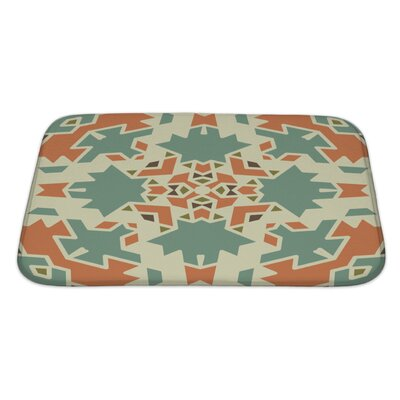 Creek Colorful Geometrical Ornament Tiles Bath Rug Size: Large