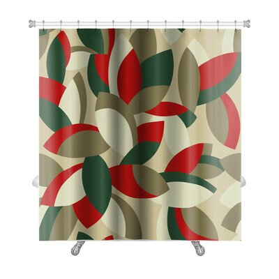 Cappa Floral Pattern Premium Shower Curtain