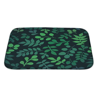 Cappa Leaf Bath Rug Size: Large
