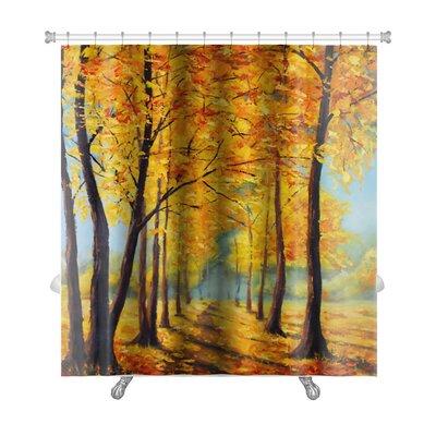 Landscapes High Autumn Trees, Autumn Harmony Premium Shower Curtain