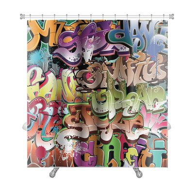 Art Beta Graffiti Urban Premium Shower Curtain