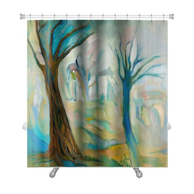 Art Alpha 2 Dead Trees in the Wood Premium Shower Curtain