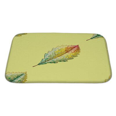 Leaves Autumn Variation Bath Rug Size: Large