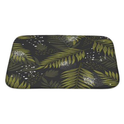 Leaves Leaf Palm Bath Rug Size: Large