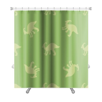 Dinosaurs Silhouettes of Dinosaurs Premium Shower Curtain