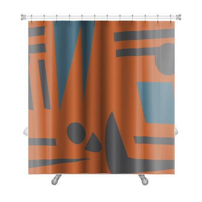 Tribal Abstract Footprints and Shadows Premium Shower Curtain
