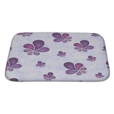 Nature Beautiful Leaf Pattern Bath Rug Size: Large
