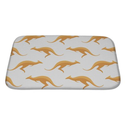 Animals with Kangaroos Bath Rug Size: Large