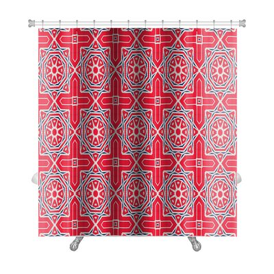 Simple Ethnic Pattern Abstract Kaleidoscope Premium Shower Curtain