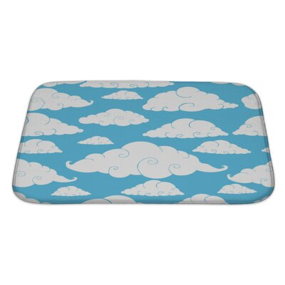 Charlie Cloud Bath Rug Size: Large