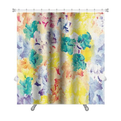 Art Primo Floral Watercolor Abstract Premium Shower Curtain