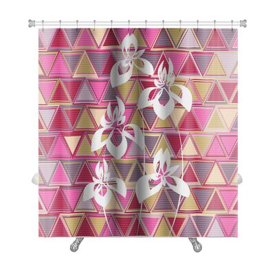 Gecko Abstract Flowers Premium Shower Curtain