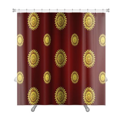 Bravo Traditional Thai Line Art Premium Shower Curtain