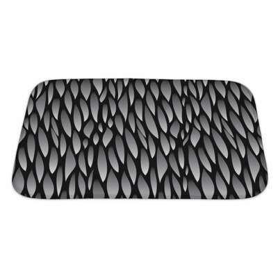 Cappa Abstract Leaf Pattern in Stock Bath Rug Size: Large