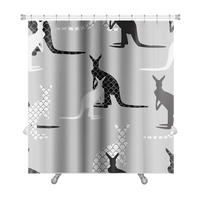 Animals Kangaroo Imagination Premium Shower Curtain