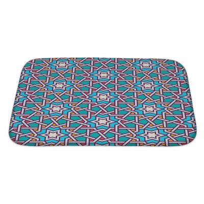 Slide Tangled Modern Pattern Bath Rug Size: Large