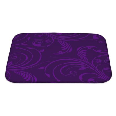 Bravo Elegant Stylish Floral Bath Rug Size: Large