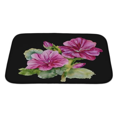 Flowers Colorful Bath Rug Size: Large