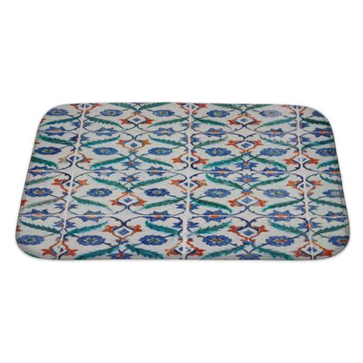 Creek Ancient Traditional Handmade Tiles Bath Rug Size: Large