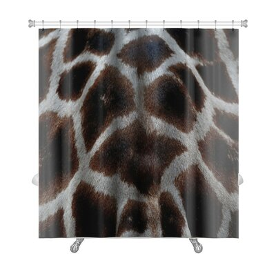 Animals Skin of Giraffe Premium Shower Curtain