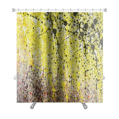Art Alpha Abstract with Splashes of Paint Premium Shower Curtain