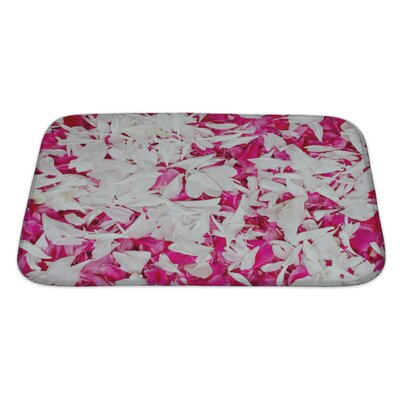 Simple Colorfull Petal Bath Rug Size: Large