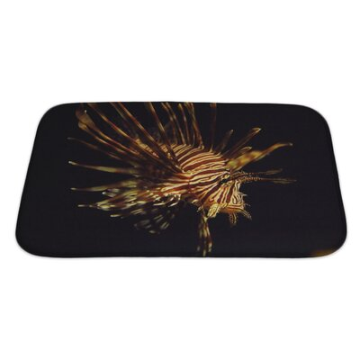 Fish Pterois Antennata Ragged Finned Firefish Lionfish Broadbarred Bath Rug Size: Large
