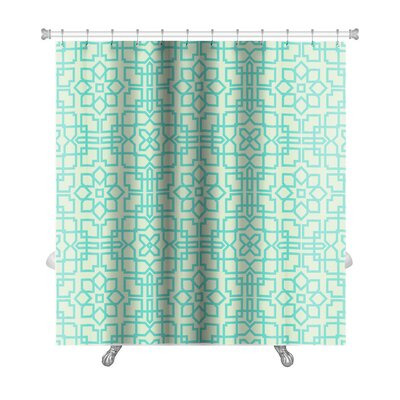 Slide Geometrical Arabic Premium Shower Curtain