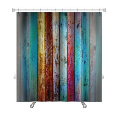 Vintage Wood Premium Shower Curtain