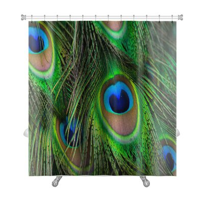 Animals Bright Peacock Feather Premium Shower Curtain