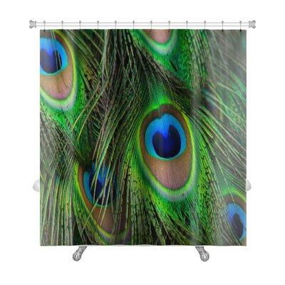 Animals Bright Peacock Feather Premium Shower Curtain