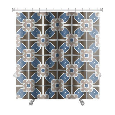 Creek Geometric Islamic Wallpaper Arabic Colorful Premium Shower Curtain