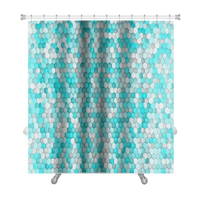 Creek Hexagon for Bathroom Shower Curtain