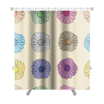 Flowers Camomiles on a Light Premium Shower Curtain
